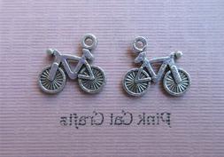 10 x Tibetan Silver BICYCLE PEDDLE MOUNTAIN BIKE 3D 16mm Cha