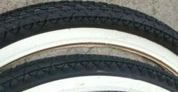 2 new wd white wall tires bmx