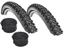 "2 Pcs Schwalbe Black Jack Bike Tyre // 12 -26 ""  + Hoses"