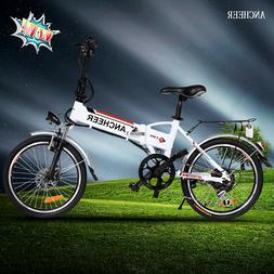"20"" Foldable Aluminum Alloy Electric Folding Mountain Bike"