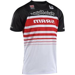 2018 Troy Lee Designs Skyline Air SRAM Jersey-Black/White-L