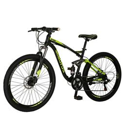 2019 Full Suspension Mountain Bikes Shimano 21 Speed Mens Bi