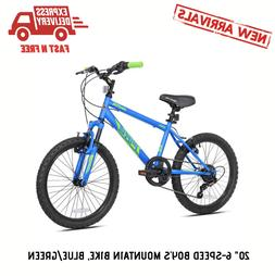 20in Mountain Bike 6 Speed Kids Boys Bicycle h MTB Bikes Whe