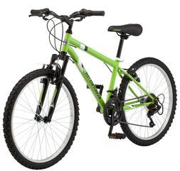 "Roadmaster Granite Peak 24"" Boy's Mountain Bike, Green/Black"