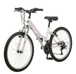 Roadmaster 24 inch Granite Peak Mountain Bike Girls White NE