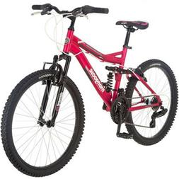 "24"" Inch Women's Mountain Bike Bicycle 21 Speeds Aluminum Su"