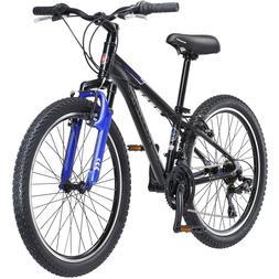 "24"" Schwinn Sidewinder Boy's Mountain Bike Black Aluminum Fr"