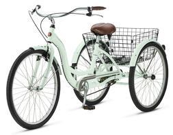 "26"" 3-Wheel Vintage Style Trike Aluminum Frame Tricycle Spri"