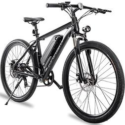 "Merax 26"" Aluminum Electric Mountain Bike Shimano 7 Speed"