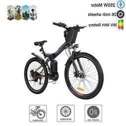 26'' Electric Folding Bike Mountain E-Bike 21 Speed W/ 36V 8