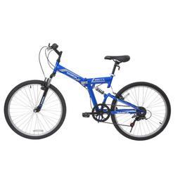 """26"""" Folding Mountain Bicycle Foldable Hybrid Bike 7 Speed Fu"""