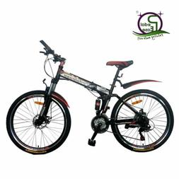"Pedalease 26"" Folding mountain bike - mudguards, disc brake,"