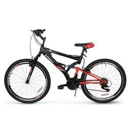 26-Inch Mountain Cycling Bike w/ Disc Brakes Full Suspension
