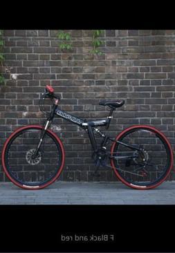 26 inch 21 speed folding mountain bike