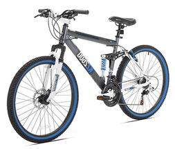 26-Inch Men Outdoor Sports Bicycle Dual Suspension Mountain