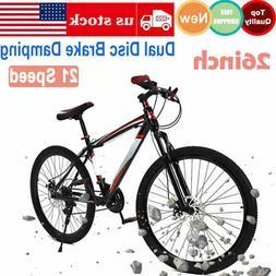 26 inch Mountain Bike 21 Speed Dual Disc Brake Damping Mens