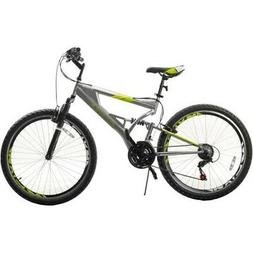 26 Inch Mountain Bike with Full Suspension 21-Speed Aluminum