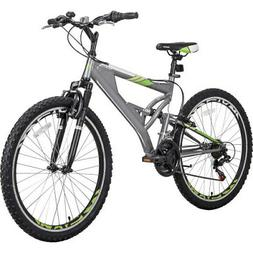 26 Inch Pro Mountain Bike with Full Suspension 21-Speed Alum