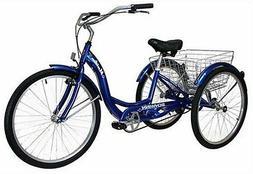 SCHWINN 26 Meridian 3-Wheel Trike Adult Comfort Cruiser Bike