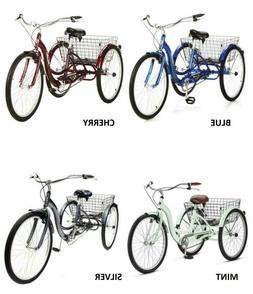 SCHWINN 26 Meridian Adult Tricycle 3-Wheel Bike Trike Comfor