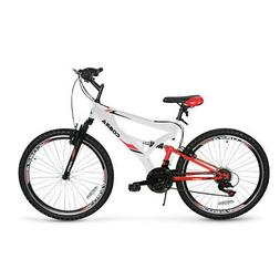 26'' Mountain Bike Hybrid 7 Speed Front Suspension Shimano M