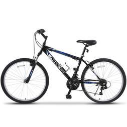 26'' Mountain Bike Hybrid Bike 18 Speeds Hardtail Suspension