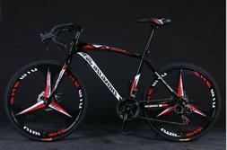 26in Folding Mountain Bike 21 Speed Dual Disc Brakes Full Su