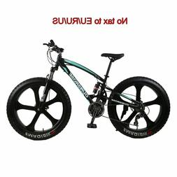 26inch fat tire mountain bike five knife carbon steel frame