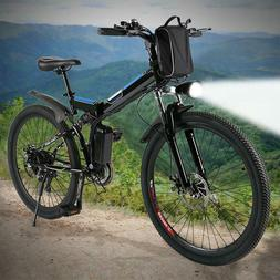 26inch MTB 36V Foldable Electric Power Mountain Bicycle with