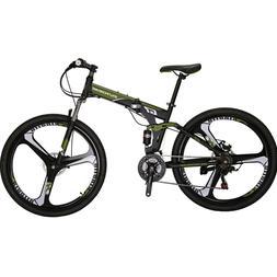 "27.5"" Folding Mountain bike Shimano 21 Speed Mens Bicycle Fu"