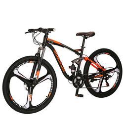 "27.5"" Full Suspension Mountain Bike 21 Speed Bicycle Mens"
