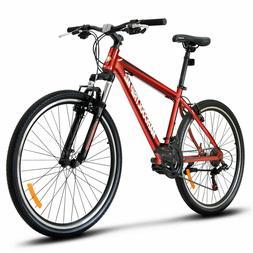 "27.5"" Men's Mountain Bike Hybrid 21 Speed Front Suspension S"