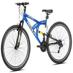 "Kent 29"" Flexor Mens Dual Suspension Mountain Bike, Blue"
