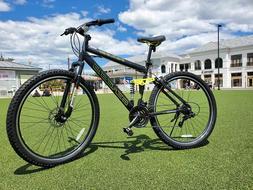 Genesis 29 inch Mountain Bike for Men - Black/Neon Green, Br