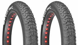 """2Pcs Fat Bicycle Tires 26"""" x 4.0"""" Black Deli Big Buddy Cru"""