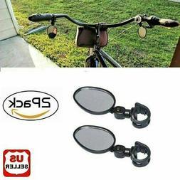 2x Mountain Glass Mirror Adjustable fits Hybrid MTB Recumben