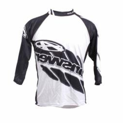 Answer 3/4-Sleeve Men's MTB Jersey Black/White Small