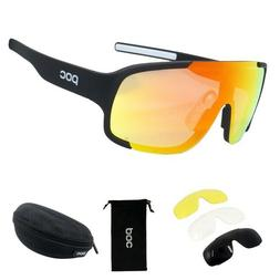POC 3 Lens Mountain Bike Goggles Cycling Eyewear Bicycle Cyc