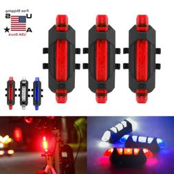 3X USB Rechargeable LED Mountain Bike Cycle Front Rear Tail