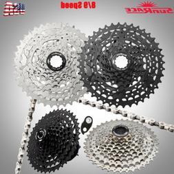 SunRace 8/9 Speed Cassette 11-40T MTB Bike Freewheel Chain C