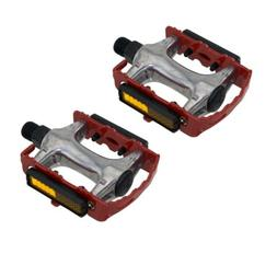 """940 Alloy Pedals 9/16"""" Red Bicycle Bike Road MTB Cruiser Fix"""