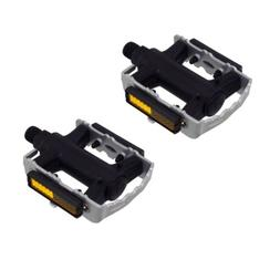"""975 Alloy/Nylon Pedals 9/16"""" Silver Bicycle Bike Road MTB Cr"""