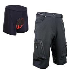 Ally Padded Mountain Bike Shorts, Water Repellent Mens Cycli