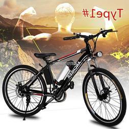 "Adult 26"" Folding Electric Mountain Bike,27-speed 36V 250W E"