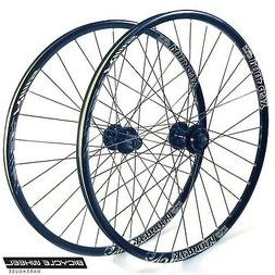 "Alex XCR100d 26"" Wheel set Formula 6-Bolt Disc QR Hubs Bla"