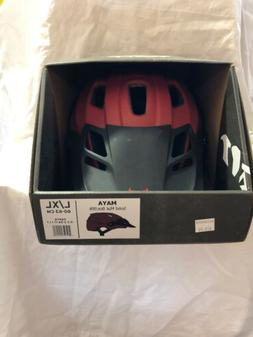 All Mountain Enduro MTB cycle helmet Kali Maya Bordeau Black