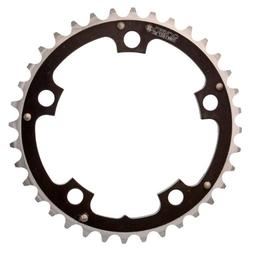 Origin8 Alloy Ramped Chainrings, 110mm x 36t, Black/Silver