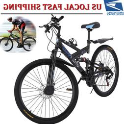 aluminum mountain bike 21 speeds full suspension