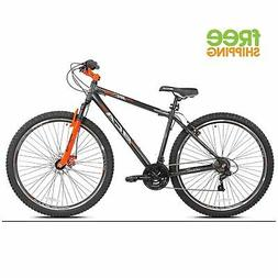 "Aluminum Mountain Bike 29"" 21 speed Gray Men Bicycle Disc Br"