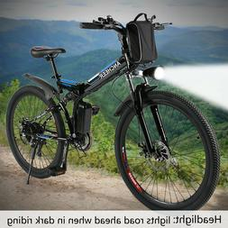 "Ancheer 26"" E-Bike Electric Bicycle Folding City Mountain Bi"